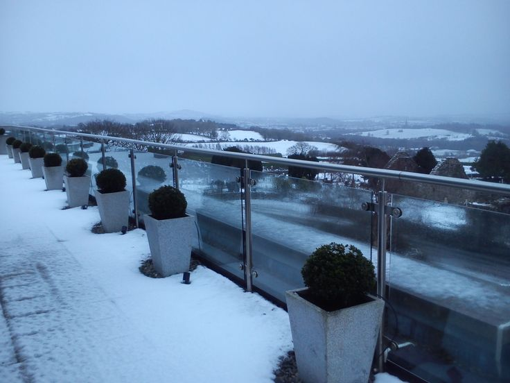 Our Penthouse Terrace looks even better with a coating of white snow