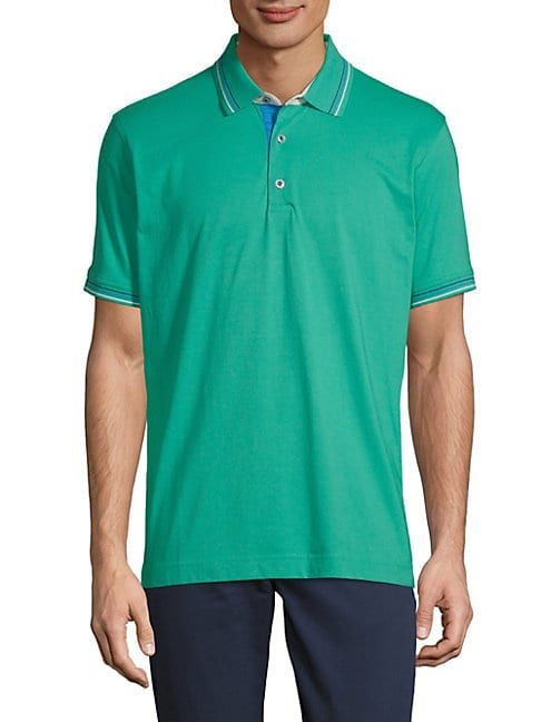 746f3cf3 ROBERT GRAHAM SEA BREEZE SHORT-SLEEVE COTTON POLO. #robertgraham #cloth