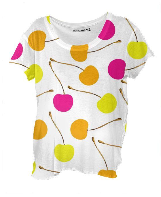 Drape Shirt Cherries by gonpart