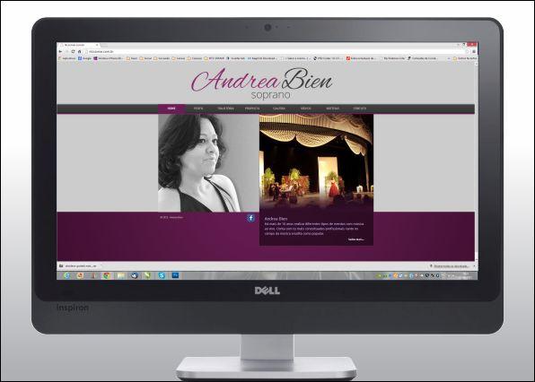 Desenvolvimento de site para cantora lírica