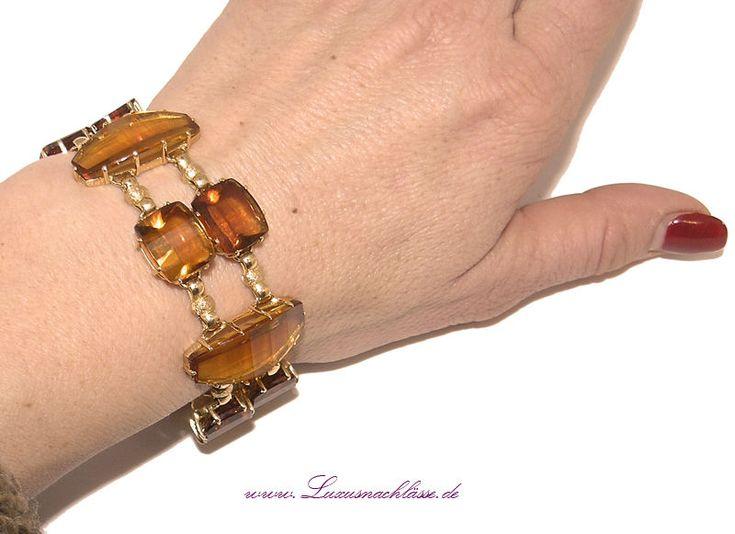 Gold Armband 18 kt ca. 80,00 ct Citrine Luxus Pur! 750 Gelbgold Bracelet