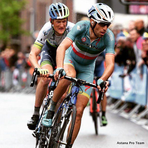 Liegi-Bastogne-Liegi 2015, 26 aprile. Vincenzo Nibali (1984) e Pieter Weening (1981)
