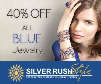 SilverRushStyle.com - All Blue Color Jewelry 40% OFF