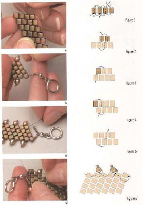 Off-set brick stitch bracelets. The pearls allow an easy turn around. This pictures is all that's available for this. #Seed #Bead #Tutorials