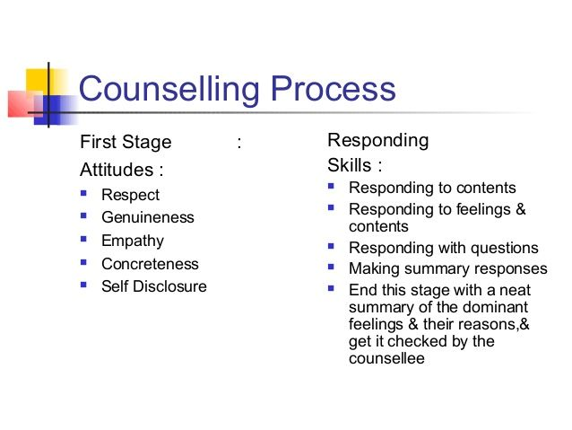 Paraphrasing exercises counselling