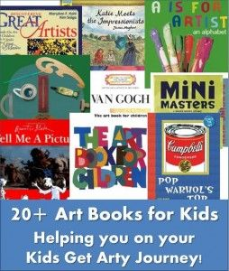 Over 20 Art Books for kids to help you get going on your Art Projects!! A really lovely selection!