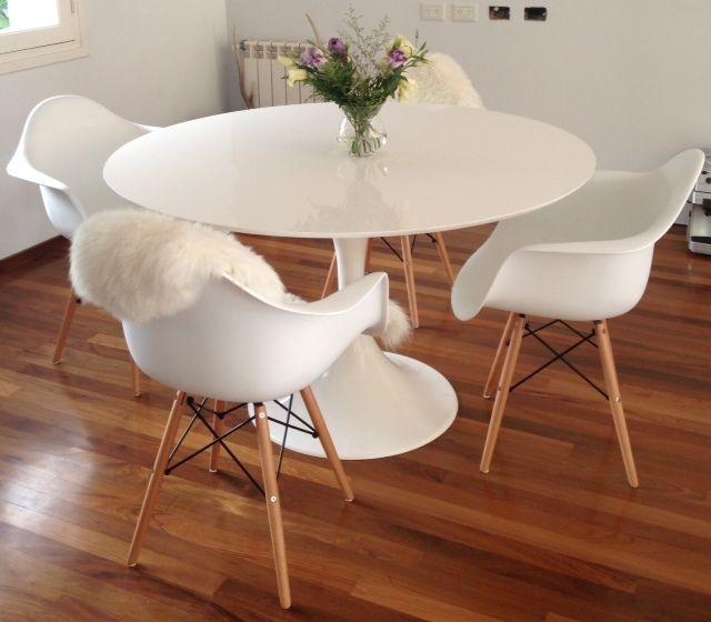 25 melhores ideias sobre mesa saarinen no pinterest for Mesa redonda conforama