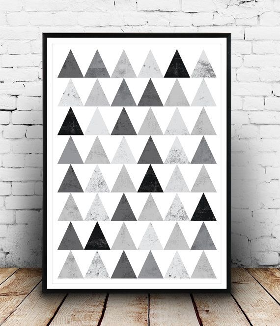Geometric art prin, Wall decor, Triangle pattern, Modern decor, Minimalist print, Black and white Abstract decor, Wall art, Modern print    Dimensions available:  5 x 7 8 x 10  11 x 14  A4 210 x 297 mm (8.3 x 11.7)  A3 297 x 420 mm (11.7 x 16.5)  - Please choose from drop down menu above!    If you are interested into any size that is not available, please contact us.        INFO:    Prints are printed on 240gsm Archival Matt photo paper    Shipped in a sturdy mailing tube with sealed caps…