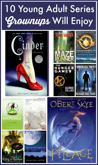 This is a great list of YA (young adult) series adults will enjoy reading.