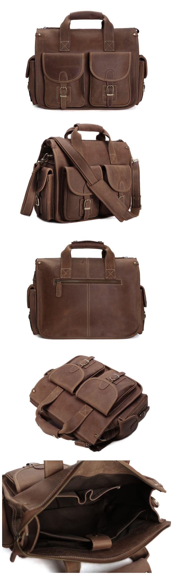 Leather Briefcase/Messenger Bag/ Men's Handbag