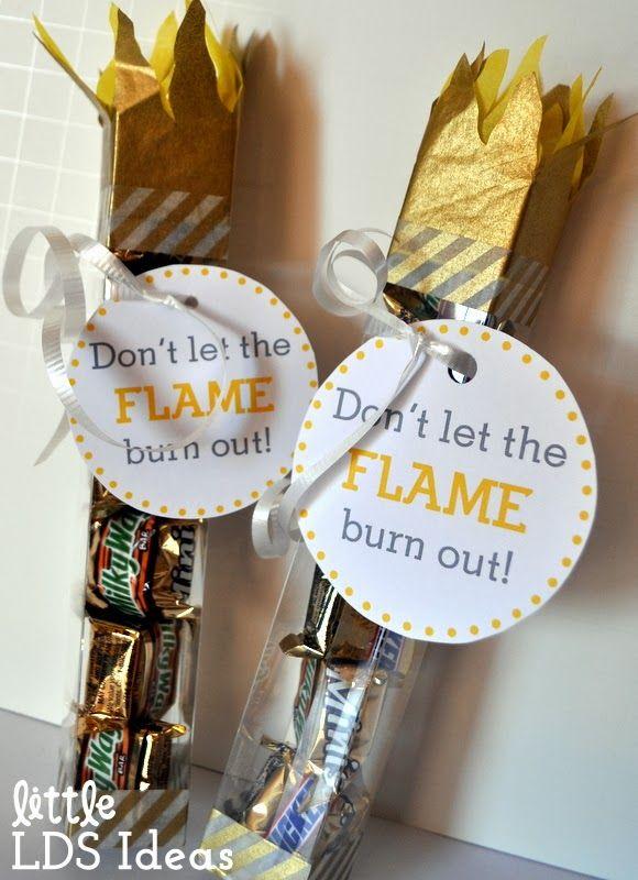 Little LDS Ideas: {Personal Progress} YW Personal Progress Olympic Torch Treats