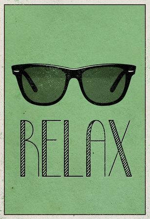Relax Retro Sunglasses Art Poster Print Poster at AllPosters.com