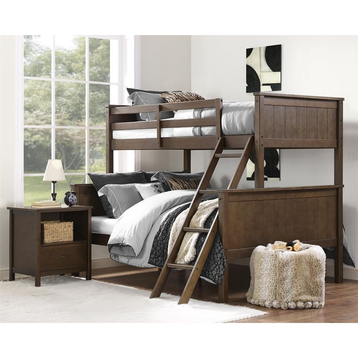 the maxton twin over full bunk bed from dorel living is designed to be the perfect
