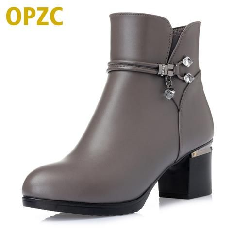 a8e27d9984e33 OPZC Winter wool Women Boots