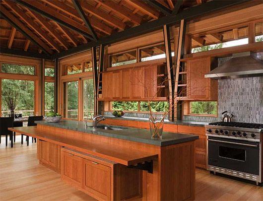 Architectural Luxury Wooden House Design Ideas Kitchen Design Wooden House Design House Design Kitchen And Bath Design