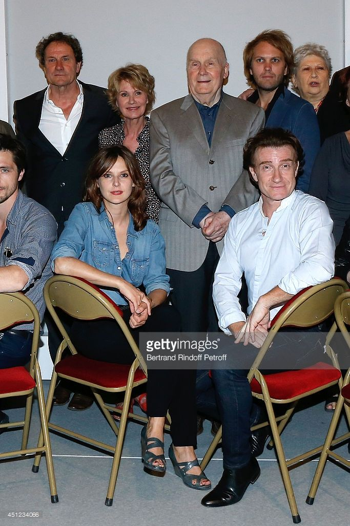 Miou Miou, Michel Bouquet; Florian Zeller, Juliette Carre, Elodie Navarre and Thierry Fremont attend Theater Hebertot presents its 2014-2015 Events and Theater Plays. Held at Theatre Hebertot on June 25, 2014 in Paris, France.