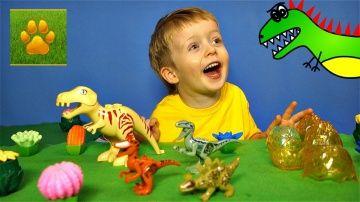 ДИНОЗАВРЫ Яйца Динозавров Игрушки Детское Видео про Динозавров для Детей  Lion boy http://video-kid.com/13811-dinozavry-jaica-dinozavrov-igrushki-detskoe-video-pro-dinozavrov-dlja-detei-lion-boy.html  ДИНОЗАВРЫ - яйца динозавров игрушки.Детское видео про динозавров для детей.Сегодня на канале Lion boy - динозавры , распаковка и сказка про динозавров для малышей. В этой сказке малыши узнают про то , как у мамы Тиранозавр  родились малыши, два тиранозавра и один стегозавр. Интересно, как это…