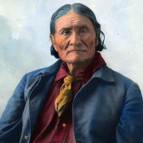 Geronimo quote: There is one God looking down on us all. We are all the children of one God. The sun, the darkness, the winds are all listening to what we have to say.