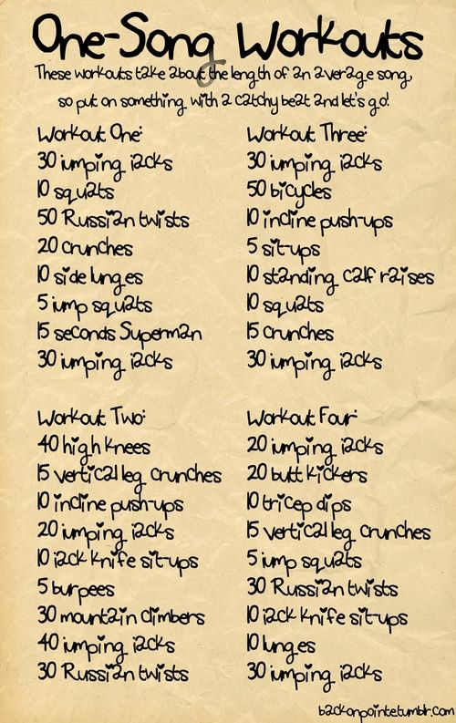 One Song Workouts: Idea, One Song Workouts, Health Workout, Work Outs, Songs, Exercise, Fitness Workout, Quick Workout
