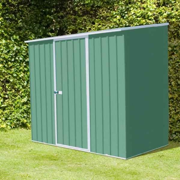 7 x 3 absco space saver metal garden sheds 226m x 078m pale eucalyptus colour