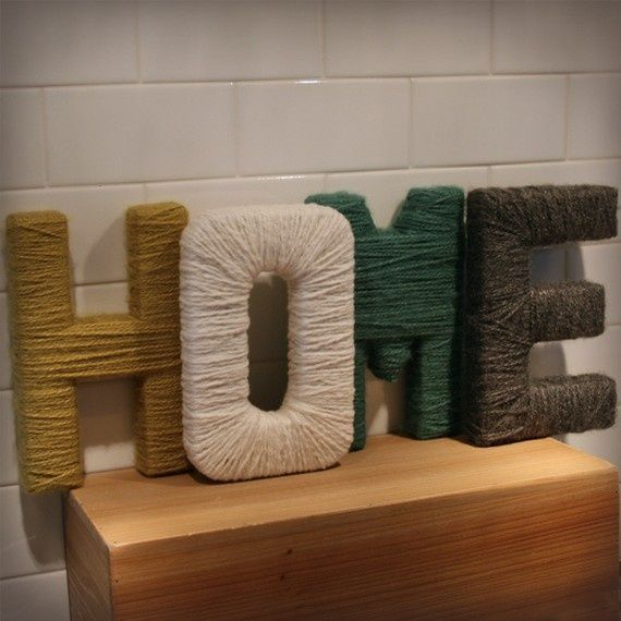 yarn covered letters.