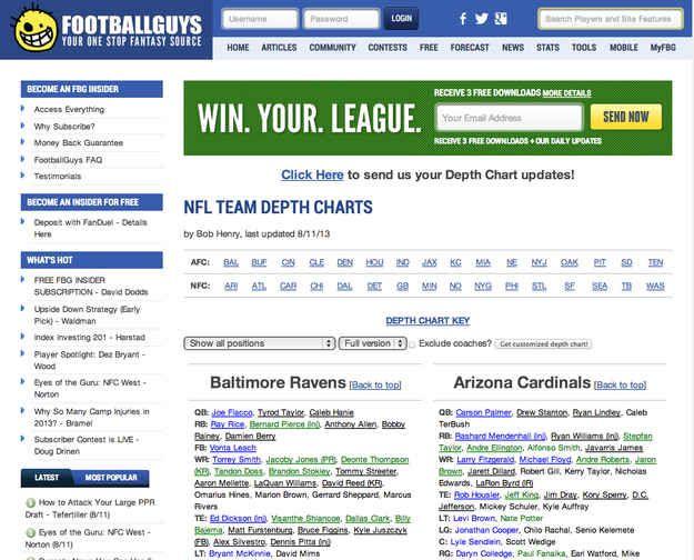 Fantasy Football tips!