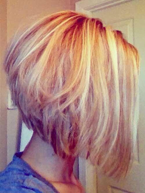 Layered Messy A-line Bob Haircut