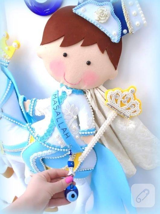 Balkabağı arabalı kız ve erkek kapı süsleri prens ve prenses bebek figürlü, isim tabelalı modeller. bebek anı defterleri, dev takı yastığı modelleri ve keçe duvar süsleri 10marifet.org'da