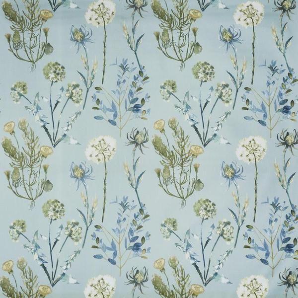 Allium Curtain Fabric Slate Blue Blue Floral Curtains Curtain
