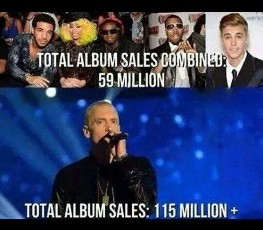 Eminem...well because he's EMINEM, that's why!!
