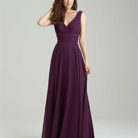 Style: 1455 - A cowled back is a timeless and utterly elegant feature on this gown. // Pictured in Grape and Waterfall.