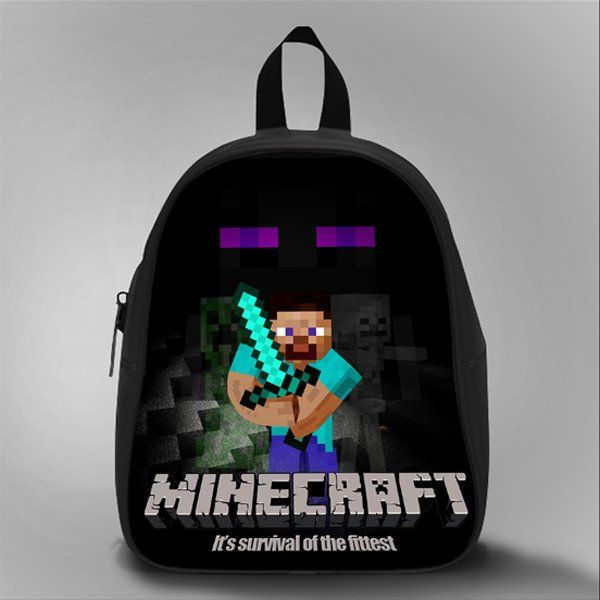Herobrine Mine Dark Sword, School Bag Kids, Large Size, Medium Size, Small Size, Red, White, Deep Sky Blue, Black, Light Salmon Color