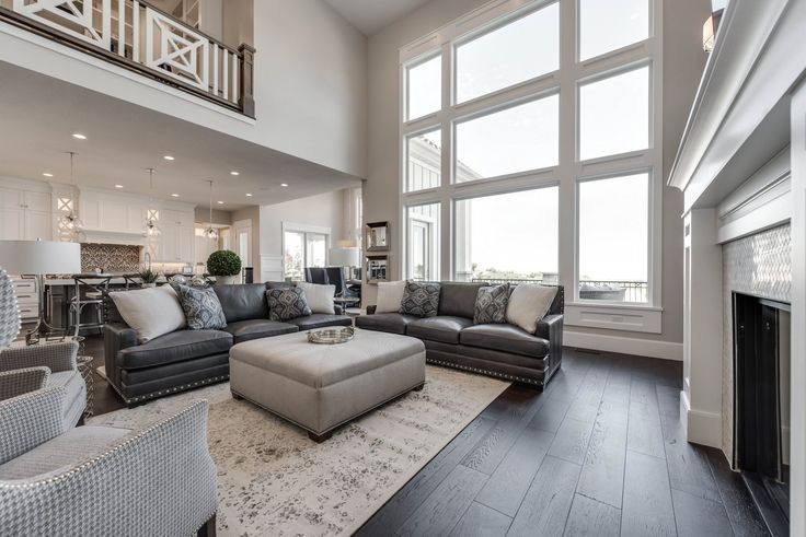 2 story room, light but still cozy - comfortable.  Salt Lake Parade of Homes