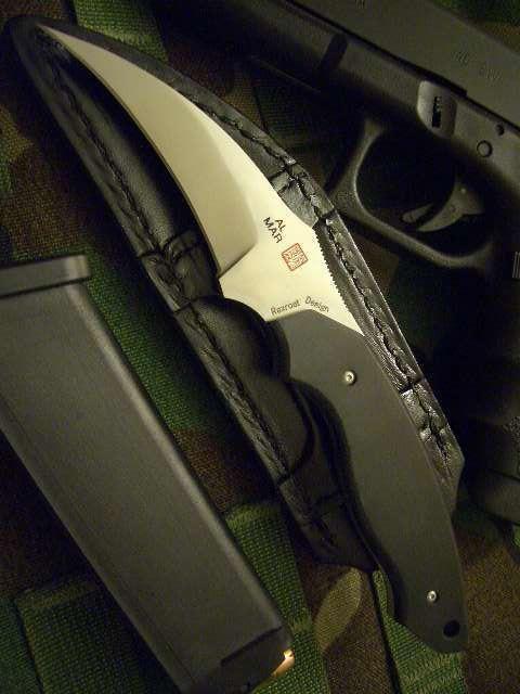 Al Mar Backup 2 EDC Fixed Blade Knife Talon Blade with Micarta Handle Designed By Kirk Rexroat #survivalknife