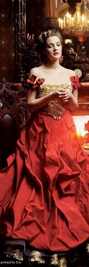 Drew Barrymore in Christian LaCroix Haute Couture l Ria