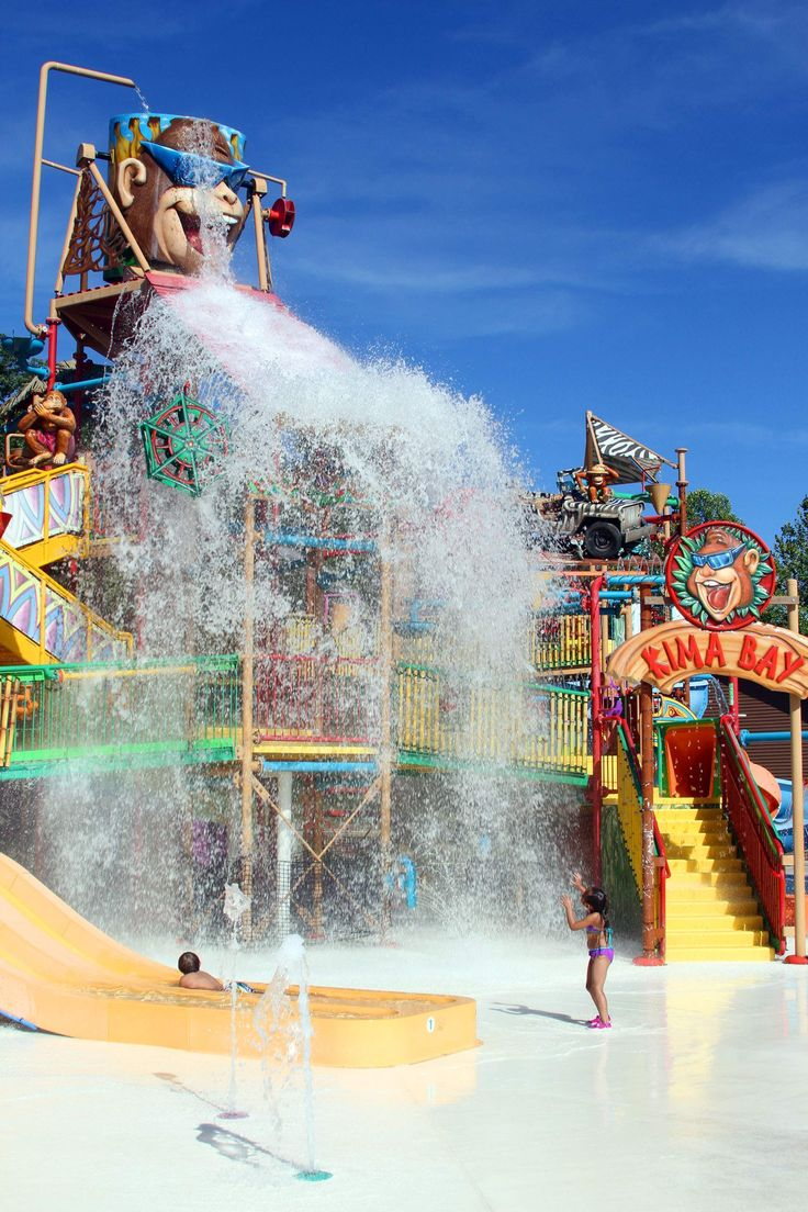Visit Indiana | Enjoy the Nation's Best Water Park and #1 Wooden Coaster at Holiday World in Santa Claus, Indiana #summer #roadtrip