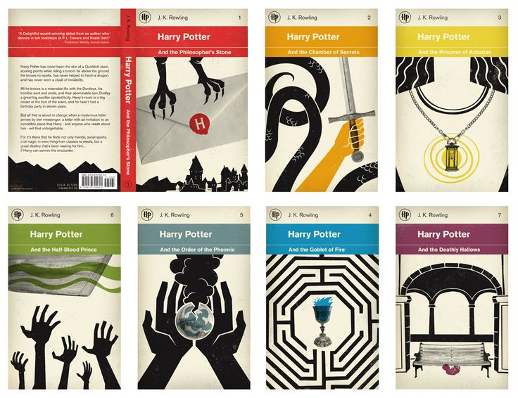 Concepts on harry potter books, haven't seen them before but it is a new way of depicting the heavily illustrated books with what looks like a more screen printed theme.