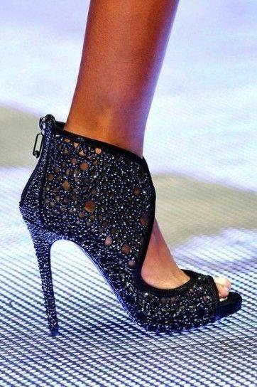 Sandali gioiello blu Philipp Plein