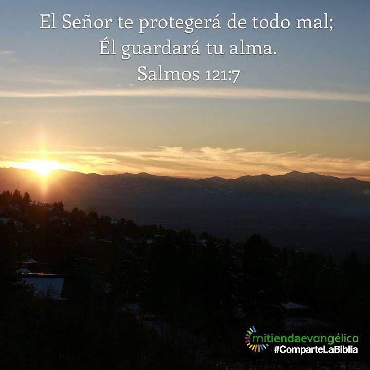 Versiculo de la #Biblia #salmo 121:7 #Dios #God
