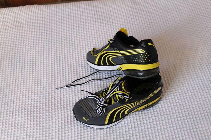 Tenis Puma Sport, Amarillos con negro. Tenis deportivos para Gym, para salir de campo.