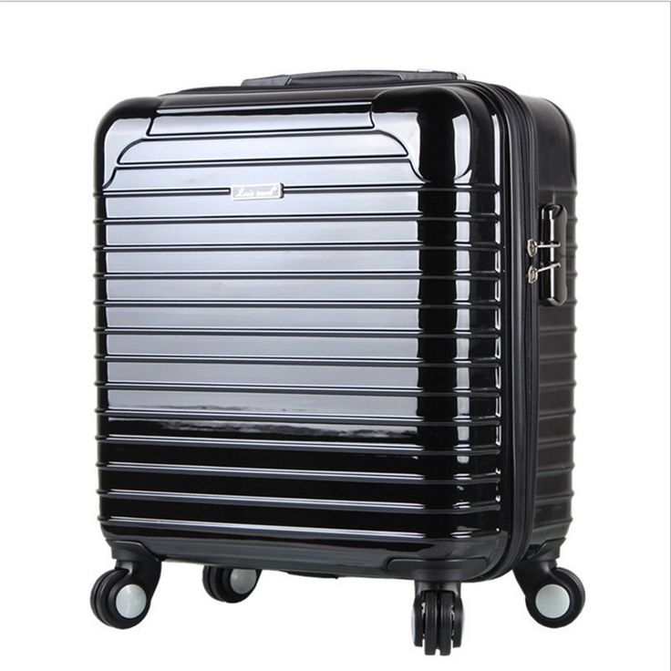 106.47$  Watch here - http://alimiv.worldwells.pw/go.php?t=32371411625 - 17-inch mirror trolley caster board chassis suitcase men black Business suitcase women luggage case travel rolling luggage valiz