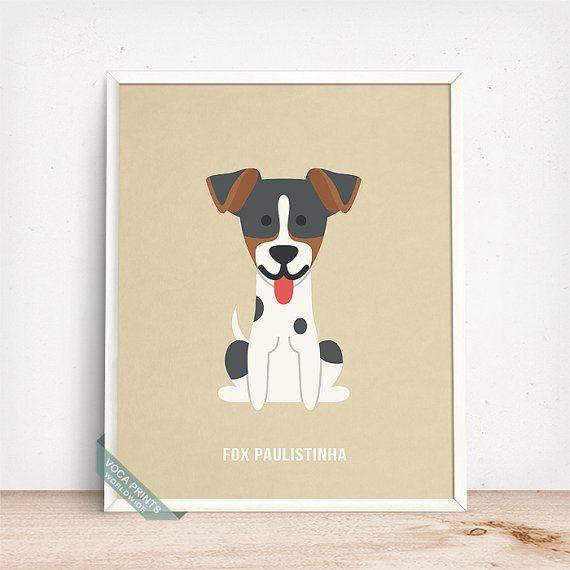 Fox Paulistinha Print Fox Paulistinha Poster Dog by VocaPrints