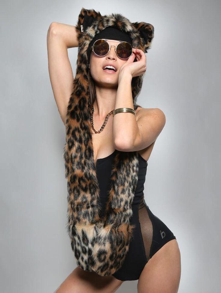 SpiritHoods Official Website | Leopard SpiritHood | Faux Fur Leopard Hood |