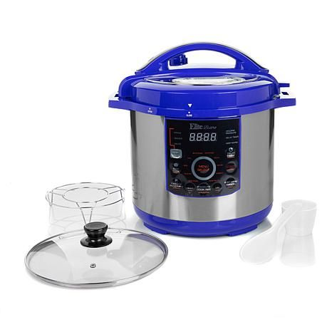 ***Elite Bistro 8qt 16-Function Electronic Pressure Cooker with Rack and Lid ,$80- 8023231 | HSN