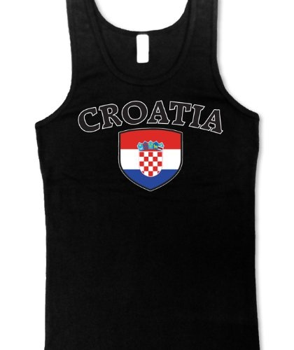 Wadulifashions — Croatia Flag Shield International Soccer Juniors Tank Top, Croatian National Pride Juniors Boy Beater