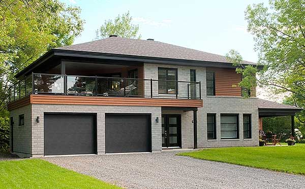 Plan 22326DR: Contemporary Bi-Generational House Plan