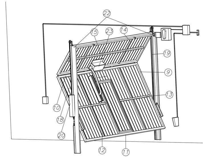 M s de 25 ideas incre bles sobre portones levadizos en - Mecanismo puerta garaje ...