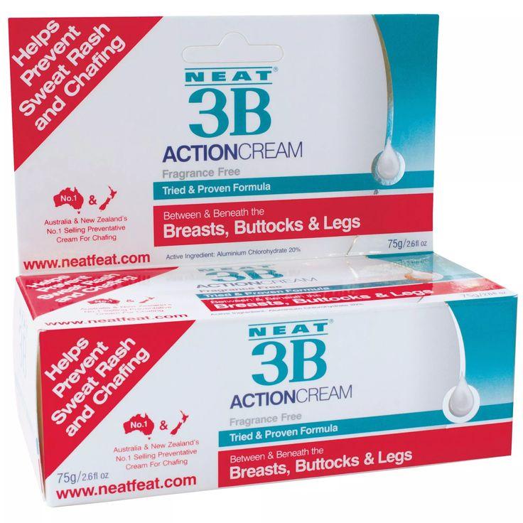 3B Action Anti-Chafing And Anti-Sweat Rash Cream 75g Travel Tube