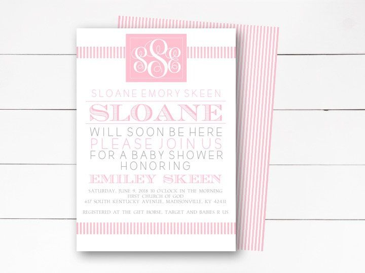 Baby Shower Invitation Girl Baby Shower Invitation Elegant Baby