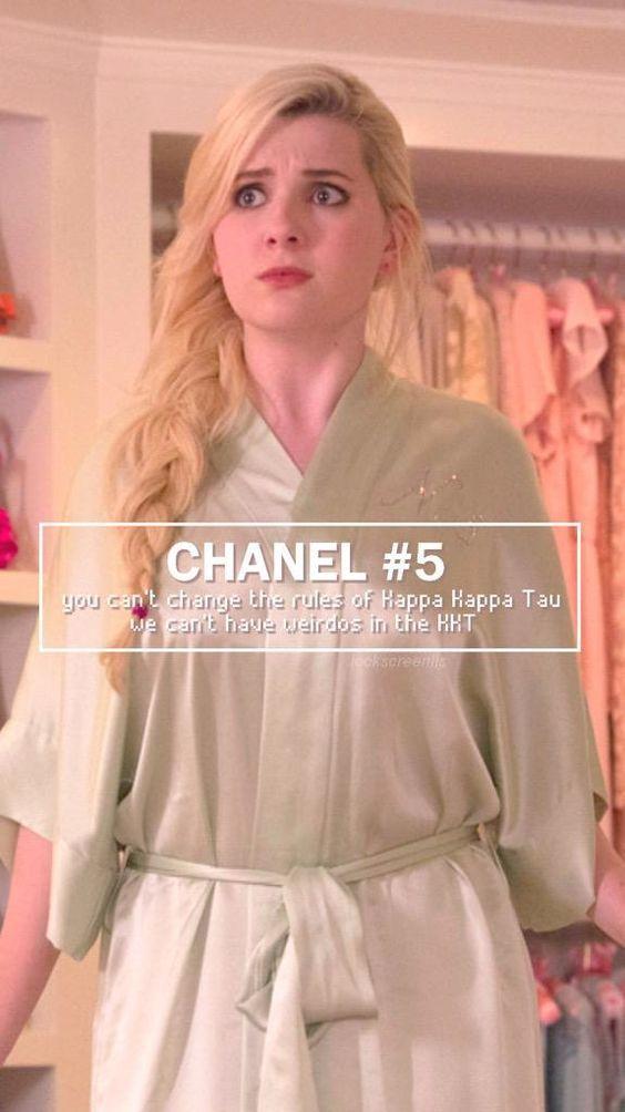 Chanel #5   Scream queens. Década de 1970. Disfraces